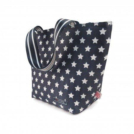 Tote Lunchbag Estrellas Negra