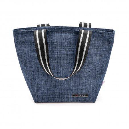 Tote Lunchbag Azul jaspeada