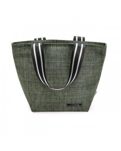 Tote Lunchbag Verde jaspeado