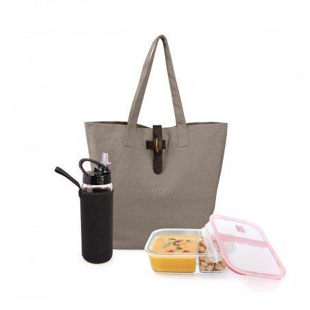 Natural Lunchbag Gris