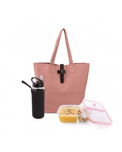 Natural Lunchbag Rosa