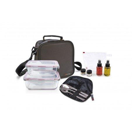 Pack Basic gris+ 2cont. vidrio + set aliño + cubiertos