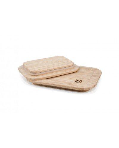 Contenedor de Vidrio y Tapa de Bambú 0,64L