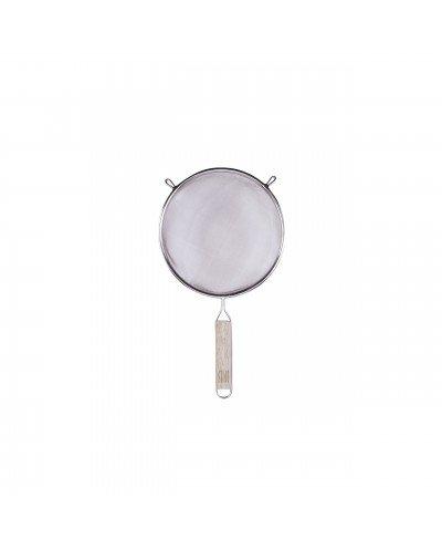 Colador Inox. 18/8 con Mango de Madera 18 cm