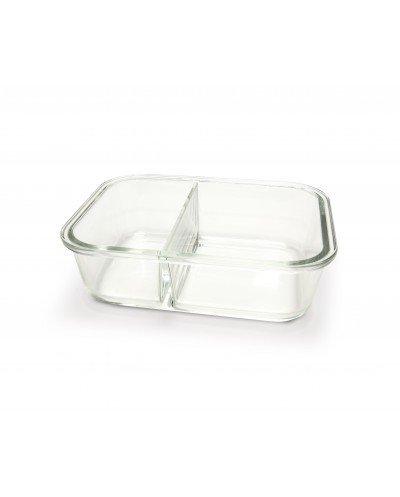 Contenedor vidrio dividido 950 ml. (400ml+550ml)
